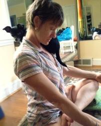 Pranayama with mom