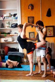 standing dancer with David Garriudues